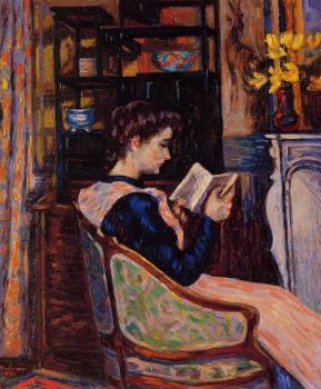 Armand Guillaumin : Mademoiselle Guillaumin Reading