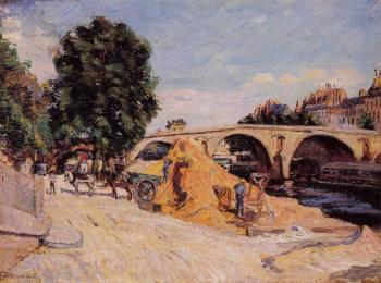 Armand Guillaumin : Pont Marie from the Quai d'Anjou