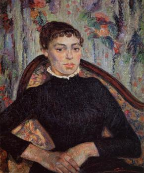Armand Guillaumin : Portrait of a Young Girl