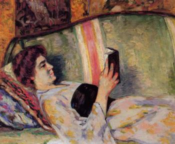 Armand Guillaumin : Portrait of Marguerite Guillaumin Reading