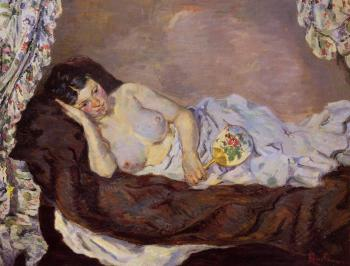 Armand Guillaumin : Reclining Nude