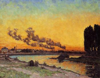 Armand Guillaumin : Sunset at Ivry