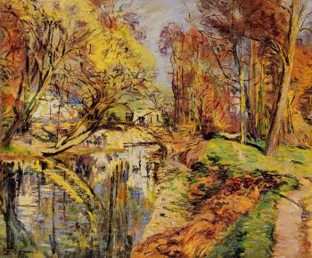 Armand Guillaumin : The Banks of the Orge at Epiney, Ile de France