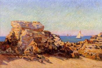 Armand Guillaumin : The Platin Rock at Saint-Palais