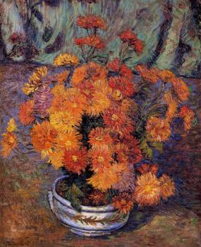 Armand Guillaumin : Vase of Chrysanthemums