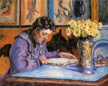 Armand Guillaumin : Woman Reading
