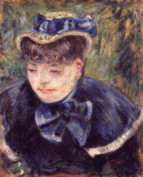Armand Guillaumin : Young Woman with a Blue Cape and Scarf