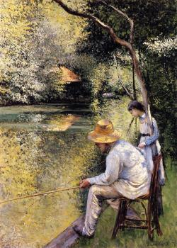 Gustave Caillebotte : Fishing