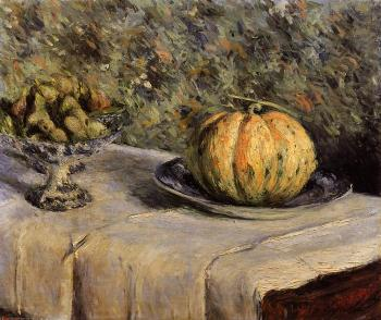 Melon and Bowl of Figs Gustave Caillebotte