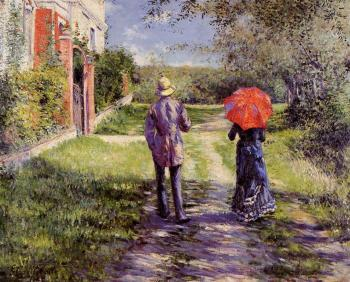Gustave Caillebotte : Rising Road