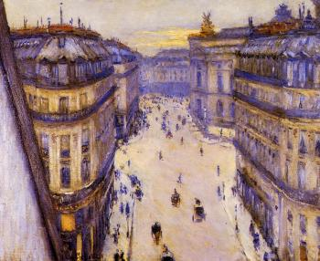 Gustave Caillebotte : Rue Halevy Seen from the Sixth Floor