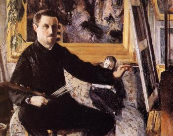 Gustave Caillebotte : Self Portrait with Easel