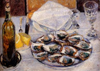 Gustave Caillebotte : Still Life Oysters