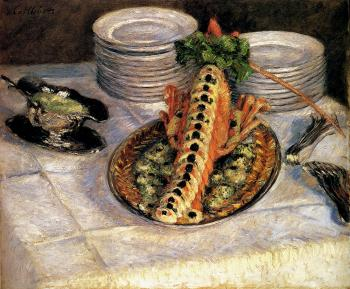 Gustave Caillebotte : Still Life With Crayfish