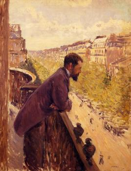 Gustave Caillebotte : The Man on the Balcony