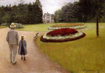 Gustave Caillebotte : The Park on the Caillebotte Property at Yerres