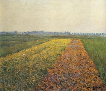 Gustave Caillebotte : The Yellow Fields at Gennevilliers