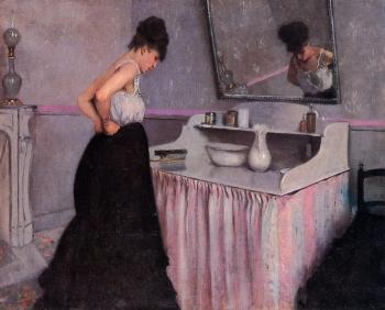 Gustave Caillebotte : Woman at a Dressing Table