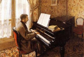 Gustave Caillebotte : Young Man Playing the Piano