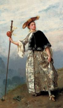 Gustave Jean Jacquet : On The Hilltop