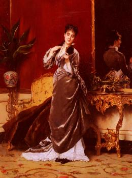 Gustave Leonhard De Jonghe : Dressing For The Ball