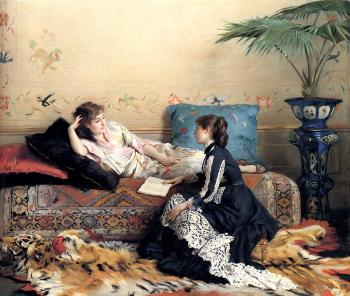 Gustave Leonhard De Jonghe : Idle Moments
