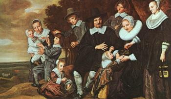 Frans Hals : A Family Group in a Landscape