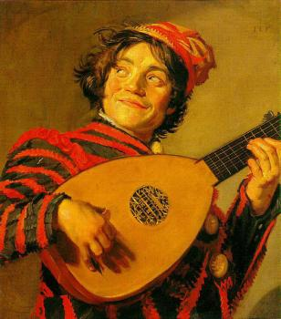 Frans Hals : Jester with a Lute