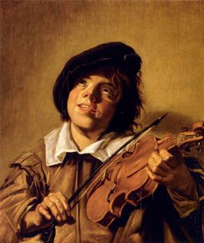 Frans Hals : Boy Playing A Violin