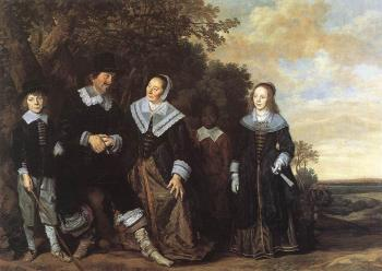 Frans Hals : Family Group In A Landscape