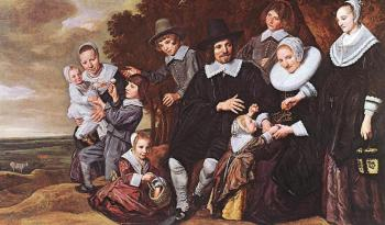 Frans Hals : Family Group In A Landscape II