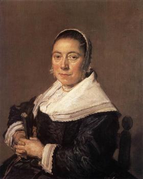 Frans Hals : Portrait Of A Seated Woman Presumedly Maria Veratti