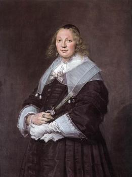 Frans Hals : Portrait Of A Standing Woman