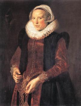Frans Hals : Portrait Of A Woman