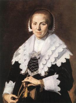 Frans Hals : Portrait Of A Woman Holding A Fan