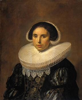 Frans Hals : Portrait of a woman possibly Sara Wolphaerts van Diemen