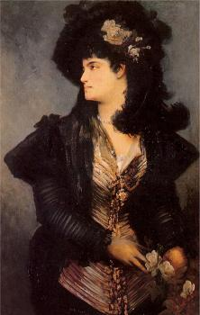 Hans Makart : portrait of a lady