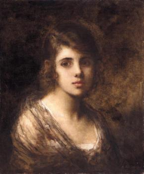 Alexei Alexeievich Harlamoff : Young Brunette