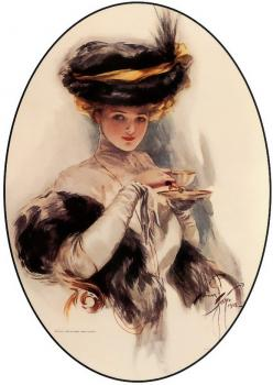 Harrison Fisher : Afternoon Tea Lady
