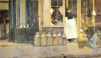 Childe Hassam : Flower Store and Dairy Store