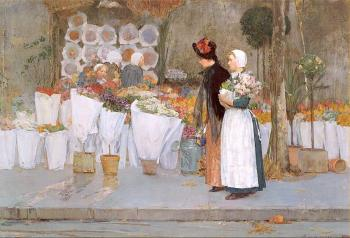 Childe Hassam : At the Florist