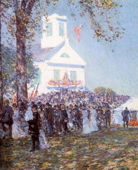 Childe Hassam : County Fair, New England