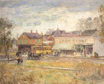 Childe Hassam : End of the Trolley Line