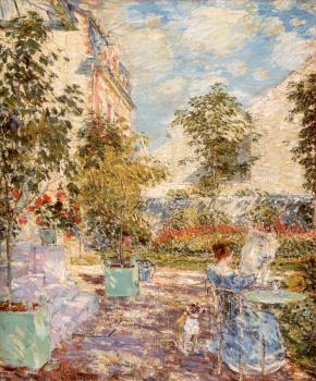 Childe Hassam : In a French Garden