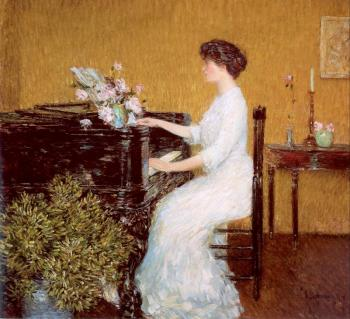 Childe Hassam : At the Piano