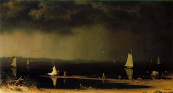 Martin Johnson Heade : Thunder Storm on Narragansett Bay