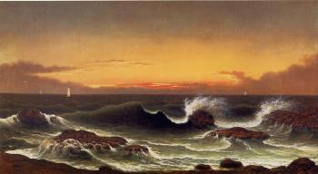 Martin Johnson Heade : Seascape, Sunrise