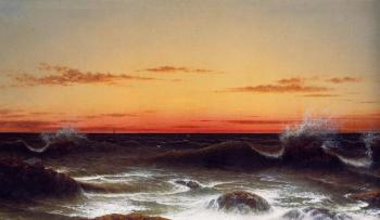 Martin Johnson Heade : Seascape, Sunset