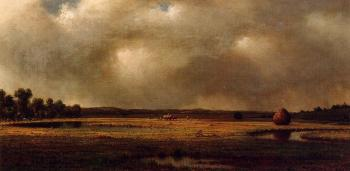 Martin Johnson Heade : Storm over the Marsh