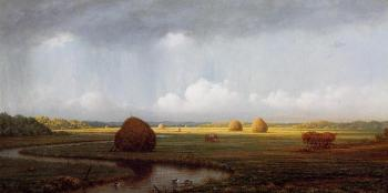 Martin Johnson Heade : Sudden Shower, Newbury Marshes